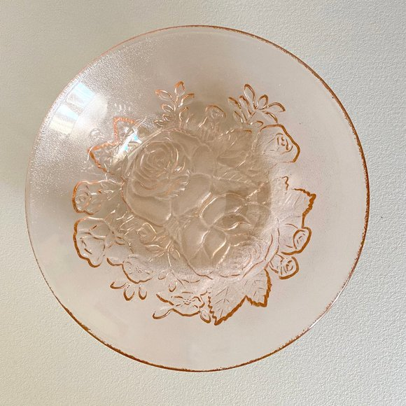 Vintage Pink Glass Bowl